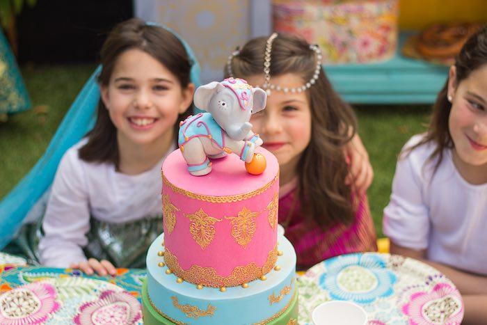 Cake from a Bollywood Inspired Birthday Party via Kara's Party Ideas | KarasPartyIdeas.com (16)