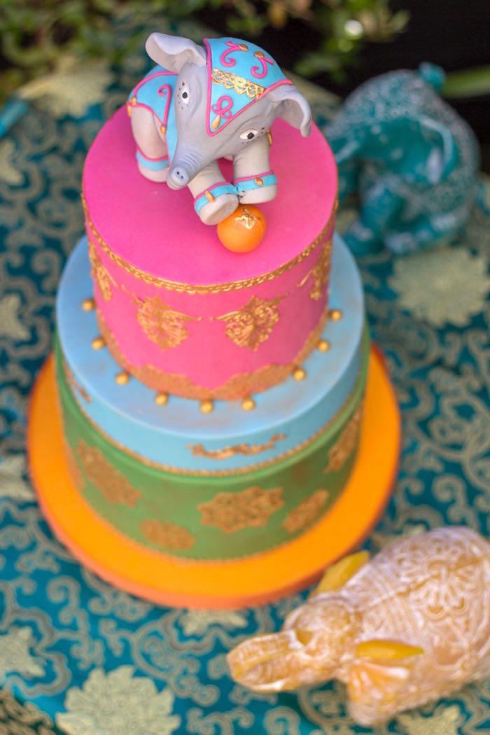 Cake from a Bollywood Inspired Birthday Party via Kara's Party Ideas | KarasPartyIdeas.com (15)