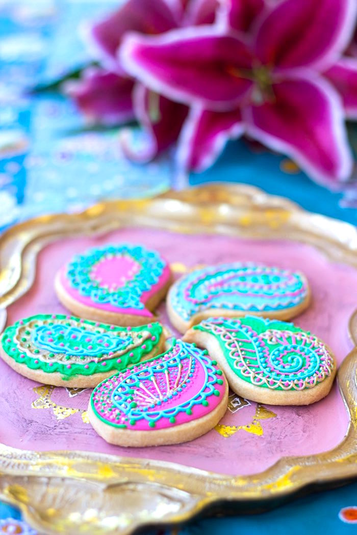 Cookies from a Bollywood Inspired Birthday Party via Kara's Party Ideas | KarasPartyIdeas.com (14)