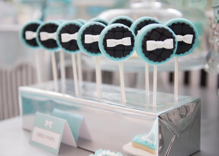 Oreo Pops from a Breakfast at Tiffany's Inspired Birthday Party via Kara's Party Ideas | KarasPartyIdeas.com (48)