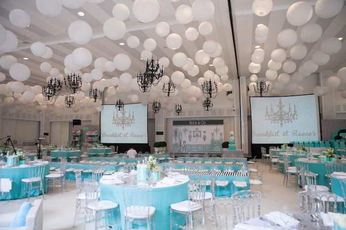Partyscape from a Breakfast at Tiffany's Inspired Birthday Party via Kara's Party Ideas | KarasPartyIdeas.com (46)