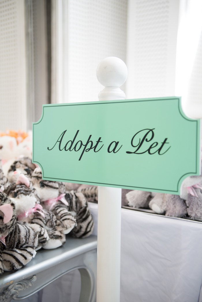 Adopt a Pet Station from a Breakfast at Tiffany's Inspired Birthday Party via Kara's Party Ideas | KarasPartyIdeas.com (44)