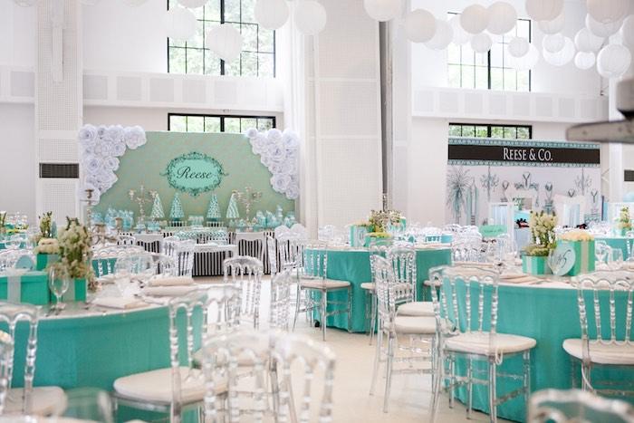 Partyscape from a Breakfast at Tiffany's Inspired Birthday Party via Kara's Party Ideas | KarasPartyIdeas.com (37)