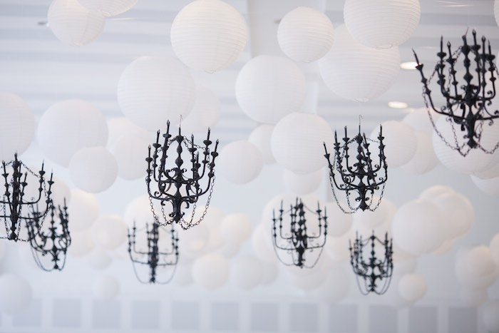 Ceiling Decorations from a Breakfast at Tiffany's Inspired Birthday Party via Kara's Party Ideas | KarasPartyIdeas.com (35)
