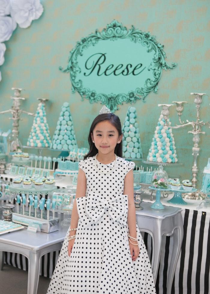 Birthday Girl from a Breakfast at Tiffany's Inspired Birthday Party via Kara's Party Ideas | KarasPartyIdeas.com (28)