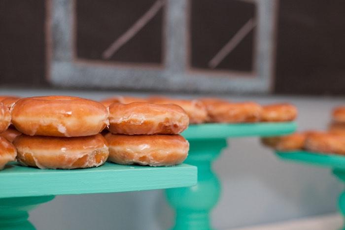Glazed Donuts from a Breakfast at Tiffany's Inspired Birthday Party via Kara's Party Ideas | KarasPartyIdeas.com (23)