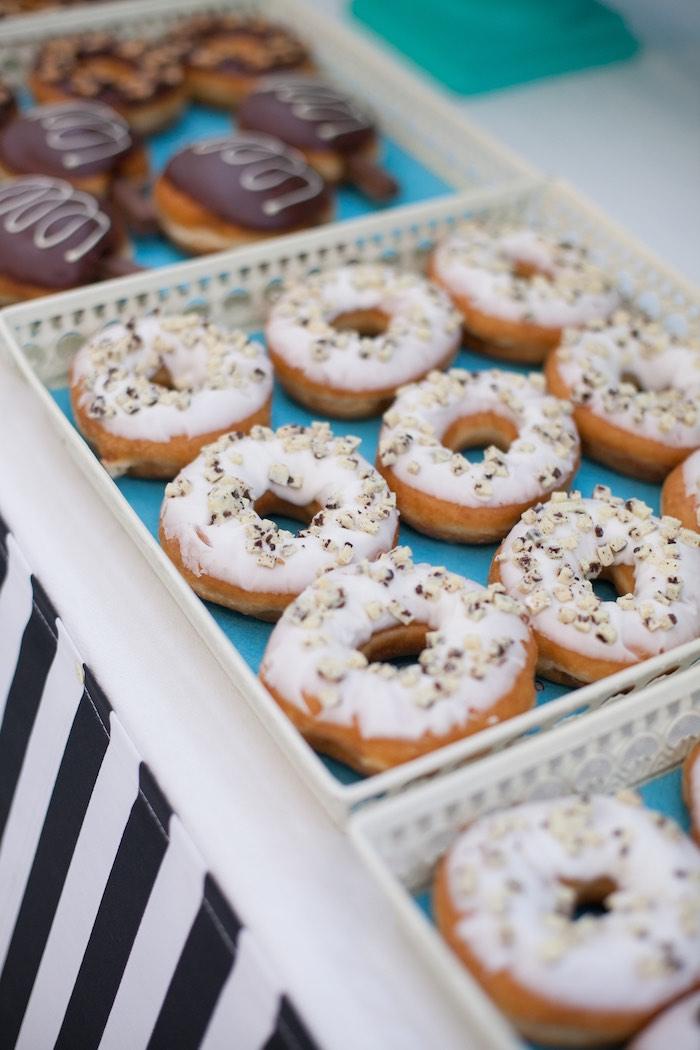 Donuts from a Breakfast at Tiffany's Inspired Birthday Party via Kara's Party Ideas | KarasPartyIdeas.com (19)