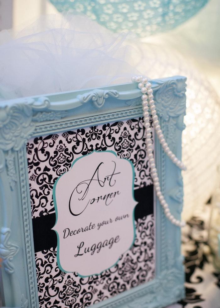 Signage from a Breakfast at Tiffany's Inspired Birthday Party via Kara's Party Ideas | KarasPartyIdeas.com (10)