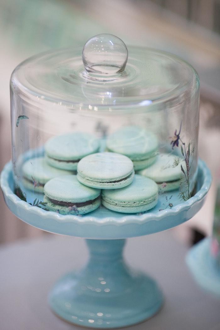 Macarons from a Breakfast at Tiffany's Inspired Birthday Party via Kara's Party Ideas | KarasPartyIdeas.com (6)