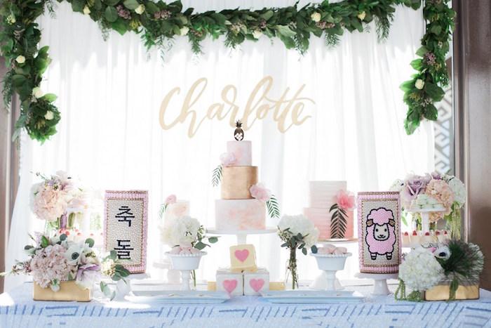 Chic Tropical Hawaiian Themed Birthday Party via Kara's Party Ideas KarasPartyIdeas.com (19)