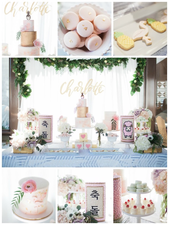 Chic Tropical Hawaiian Themed Birthday Party via Kara's Party Ideas KarasPartyIdeas.com (4)