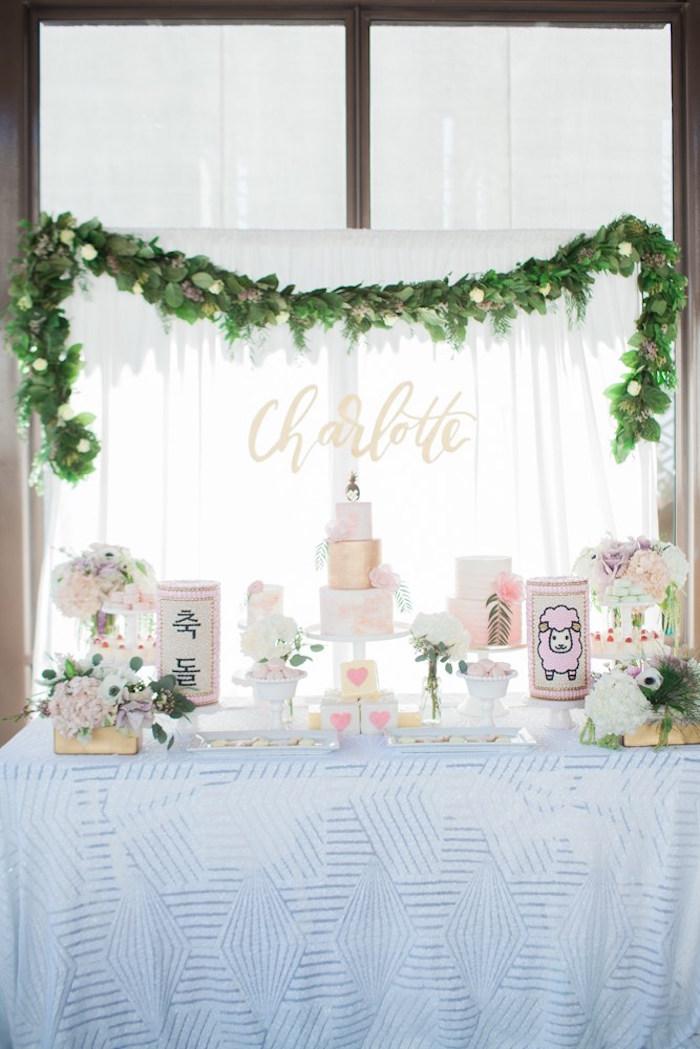 Dessert table from a Chic Tropical Hawaiian Themed Birthday Party via Kara's Party Ideas KarasPartyIdeas.com (3)