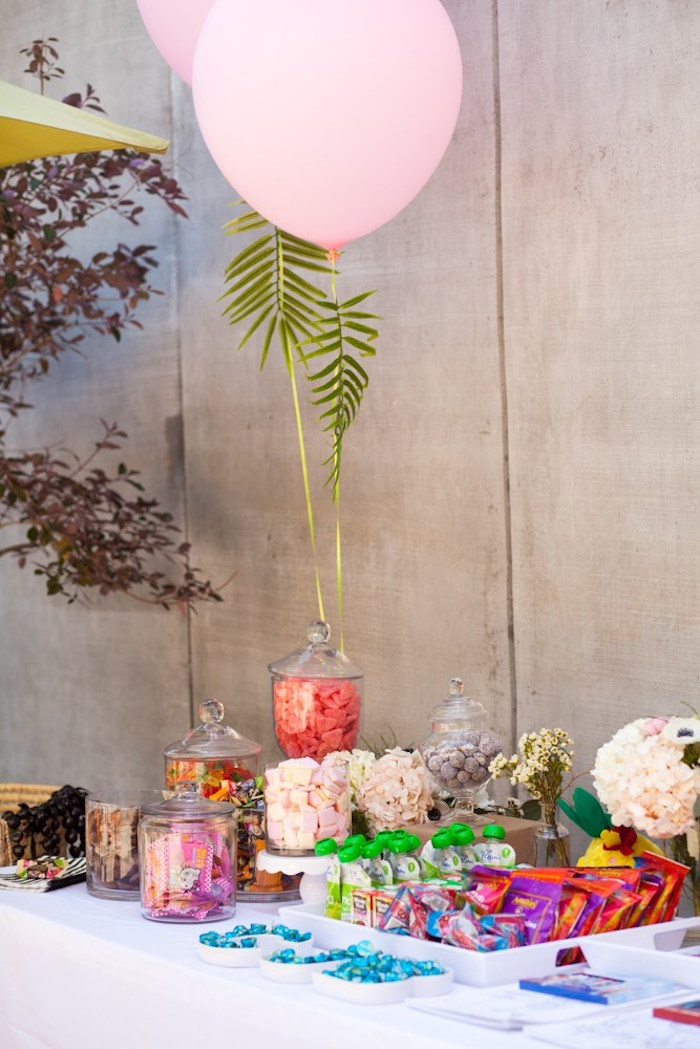 Table from a Chic Tropical Hawaiian Themed Birthday Party via Kara's Party Ideas KarasPartyIdeas.com (24)