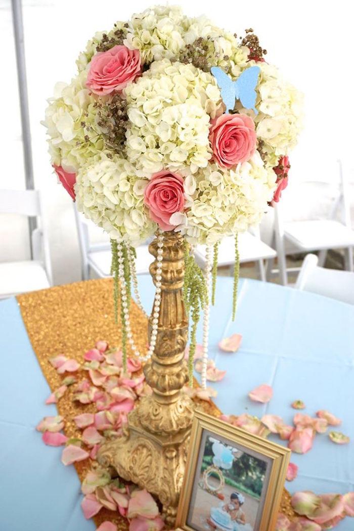 Guest tabletop from a Cinderella Birthday Party via Kara's Party Ideas | KarasPartyIdeas.com (9)