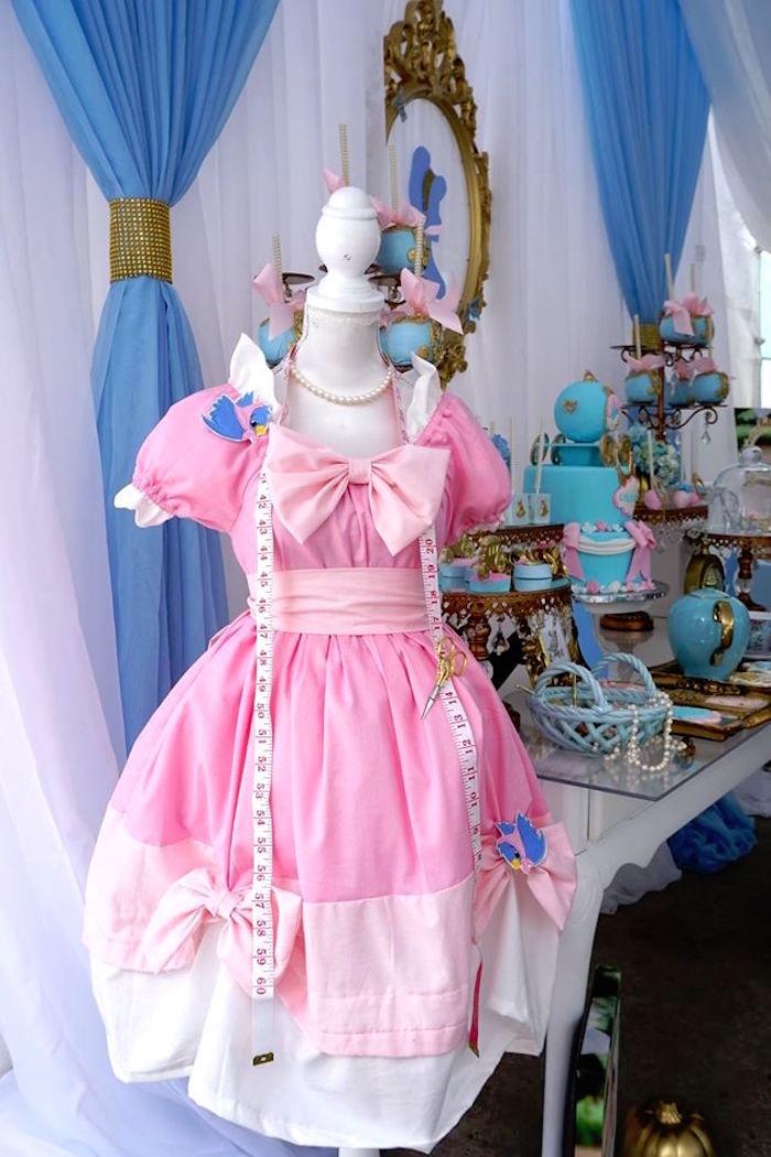 An adorable Cinderella dress from a Cinderella Birthday Party via Kara's Party Ideas | KarasPartyIdeas.com (8)