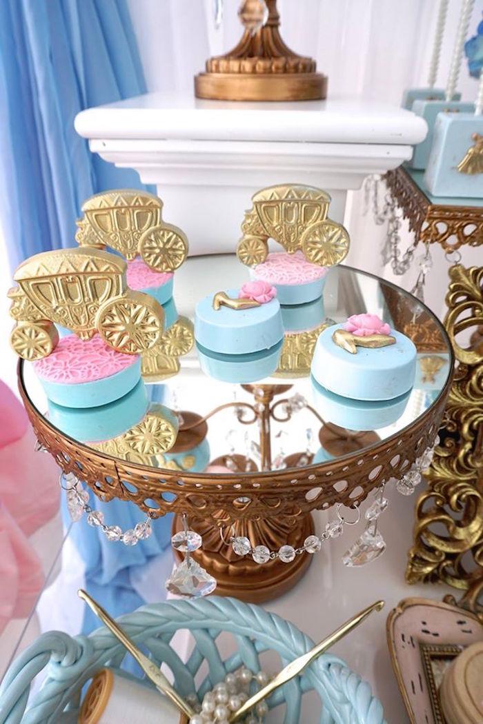 Covered Oreos from a Cinderella Birthday Party via Kara's Party Ideas | KarasPartyIdeas.com (5)