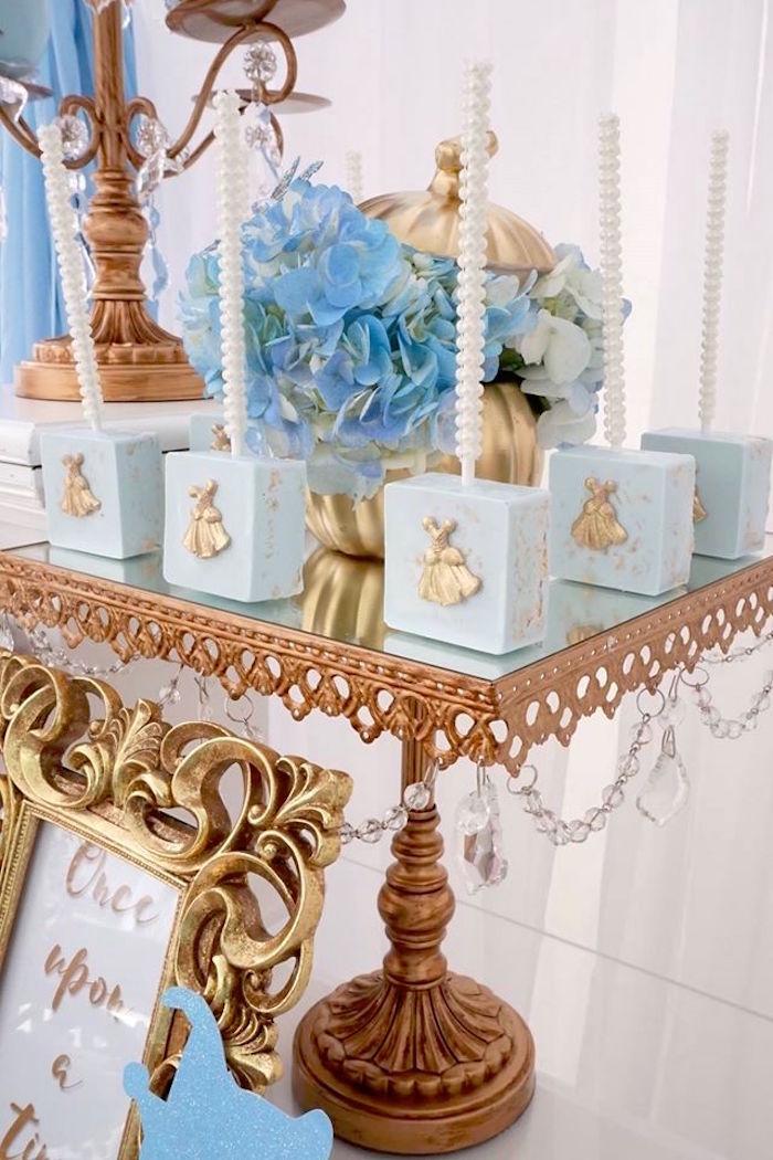 Rice Krispie Treats from a Cinderella Birthday Party via Kara's Party Ideas | KarasPartyIdeas.com (17)