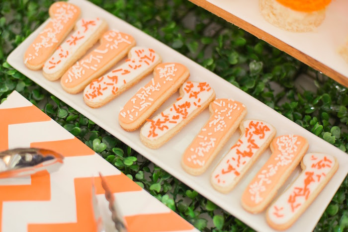 """1"" Cookies from a Citrus Harvest Birthday Party via Kara's Party Ideas! KarasPartyIdeas.com (34)"