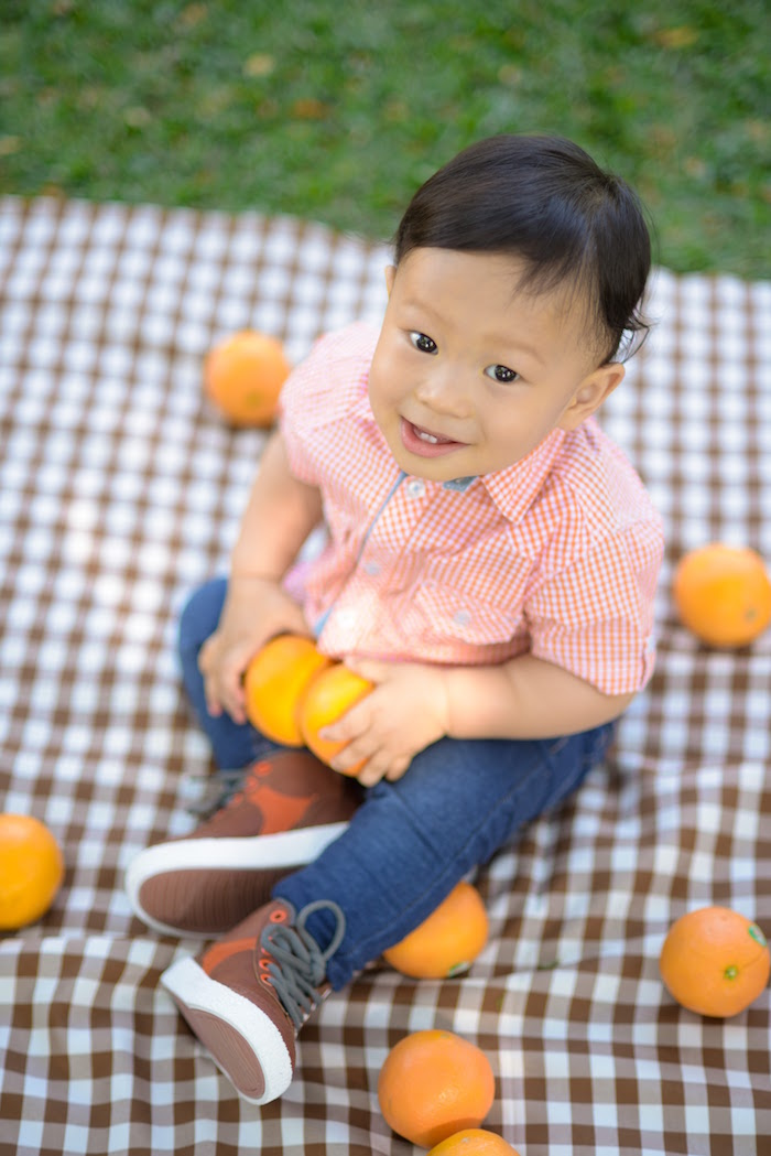 Birthday Boy from a Citrus Harvest Birthday Party via Kara's Party Ideas! KarasPartyIdeas.com (32)