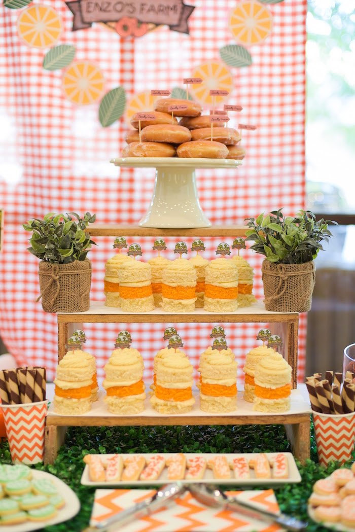 Sweet table details from a Citrus Harvest Birthday Party via Kara's Party Ideas! KarasPartyIdeas.com (31)