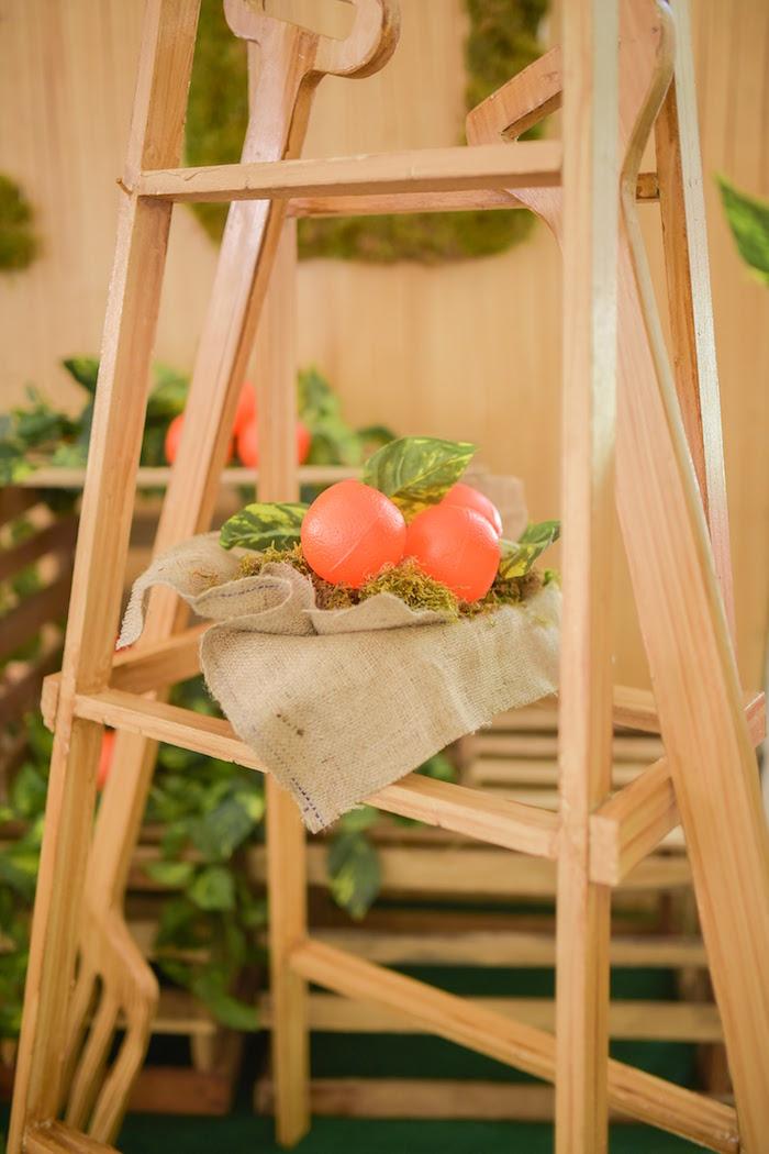 Faux plastic oranges from a Citrus Harvest Birthday Party via Kara's Party Ideas! KarasPartyIdeas.com (22)