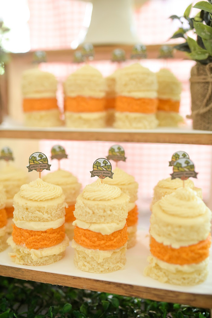 Mini cakes from a Citrus Harvest Birthday Party via Kara's Party Ideas! KarasPartyIdeas.com (18)