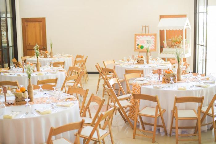Partyscape from a Citrus Harvest Birthday Party via Kara's Party Ideas! KarasPartyIdeas.com (44)