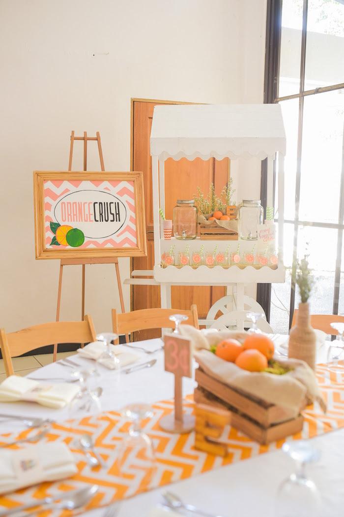 Party details from a Citrus Harvest Birthday Party via Kara's Party Ideas! KarasPartyIdeas.com (16)