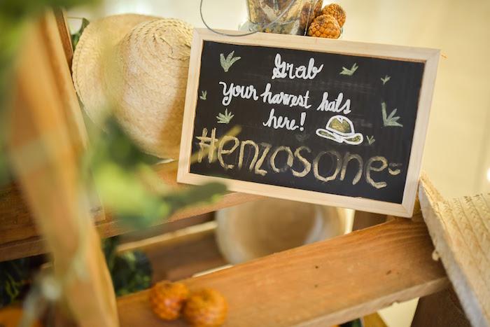 Chalkboard sign from a Citrus Harvest Birthday Party via Kara's Party Ideas! KarasPartyIdeas.com (13)