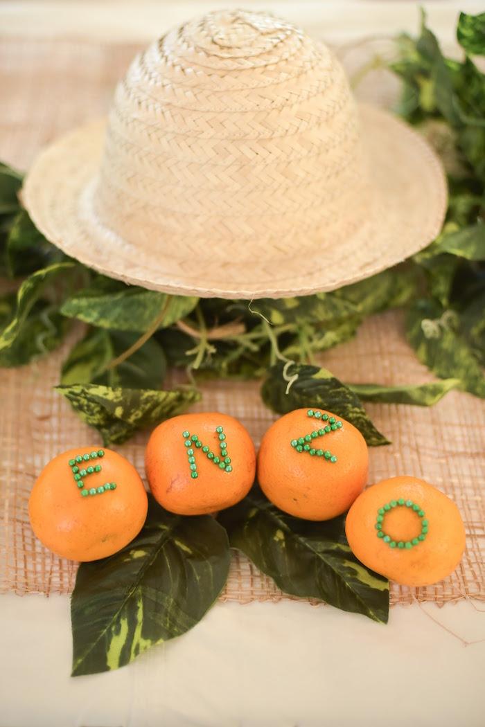 Decor Details from a Citrus Harvest Birthday Party via Kara's Party Ideas! KarasPartyIdeas.com (7)