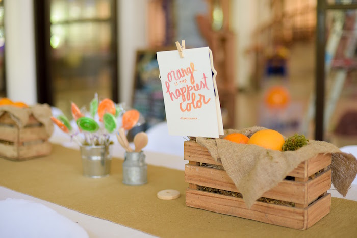Details from a Citrus Harvest Birthday Party via Kara's Party Ideas! KarasPartyIdeas.com (43)