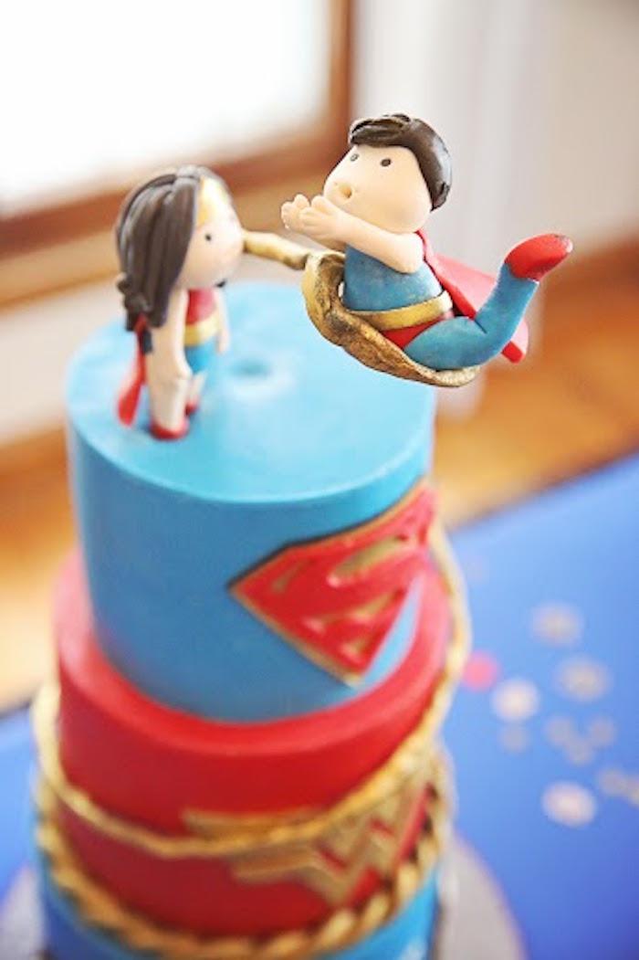 Karas Party Ideas Comic Book Superhero Joint Birthday Party
