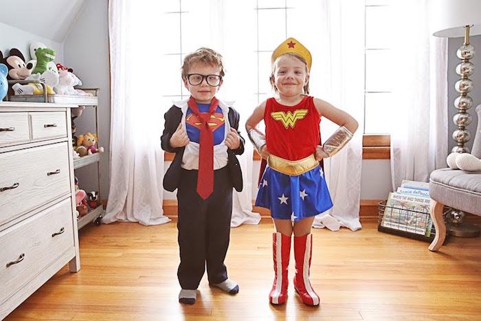 Superman & Wonder Woman from a Comic Book Superhero Joint Birthday Party via Kara's Party Ideas | KarasPartyIdeas.com (18)