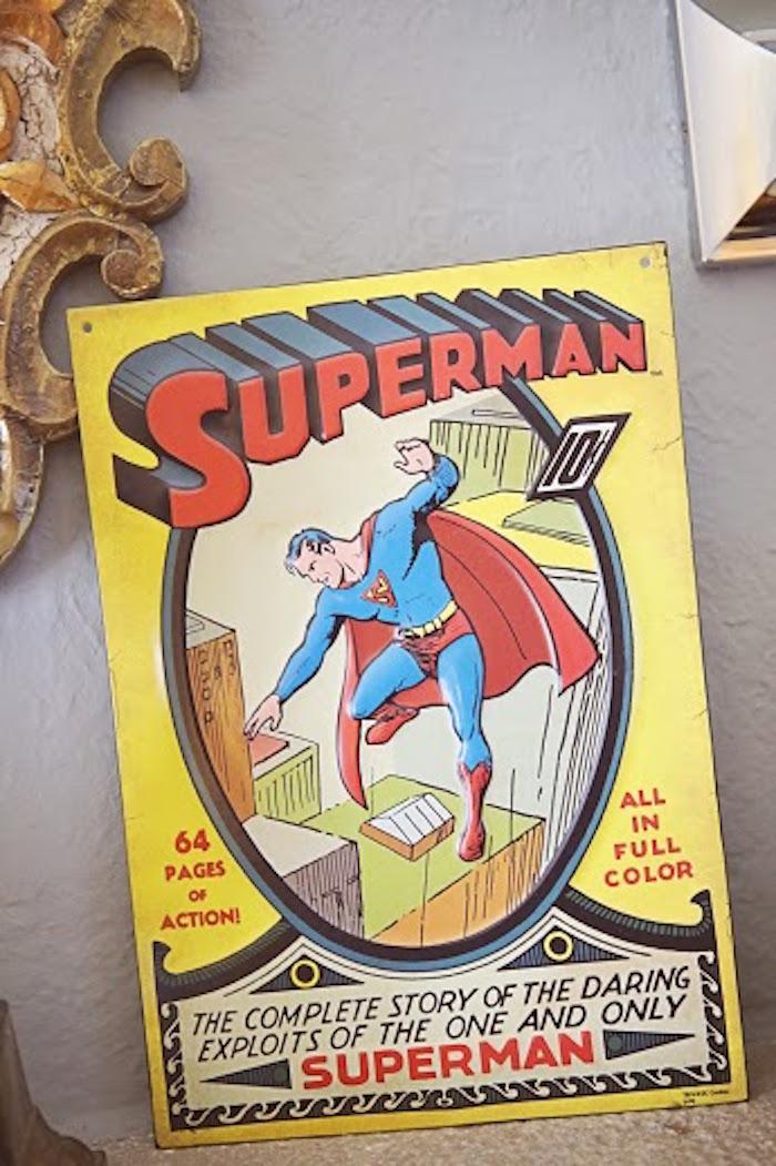 Poster from a Comic Book Superhero Joint Birthday Party via Kara's Party Ideas | KarasPartyIdeas.com (29)