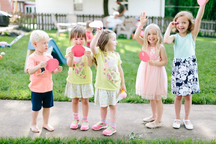 Guests from a Confetti Inspired Ice Cream Birthday Party via Kara's Party Ideas | KarasPartyIdeas.com (9)