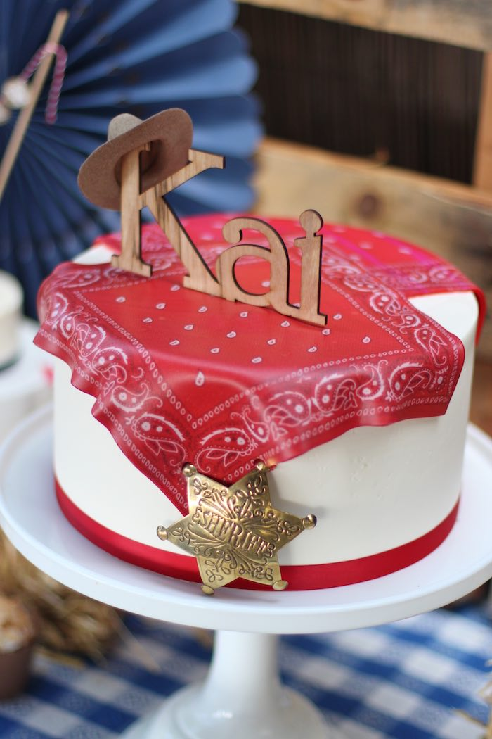 Cake from a Cowboy Western Birthday Party via Kara's Party Ideas | KarasPartyIdeas.com (25)