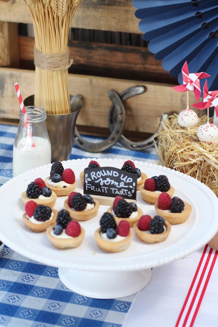 Fruit tarts from a Cowboy Western Birthday Party via Kara's Party Ideas | KarasPartyIdeas.com (21)