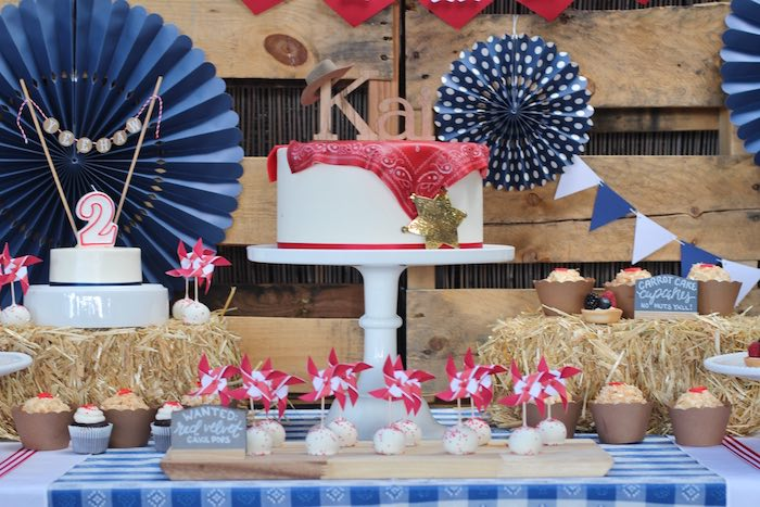 Cake display from a Cowboy Western Birthday Party via Kara's Party Ideas | KarasPartyIdeas.com (20)