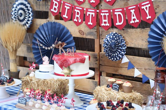 Sweet table from a Cowboy Western Birthday Party via Kara's Party Ideas | KarasPartyIdeas.com (19)