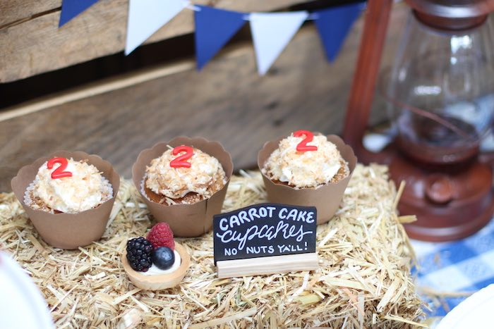 Hay bale carrot cake cupcakes from a Cowboy Western Birthday Party via Kara's Party Ideas | KarasPartyIdeas.com (18)