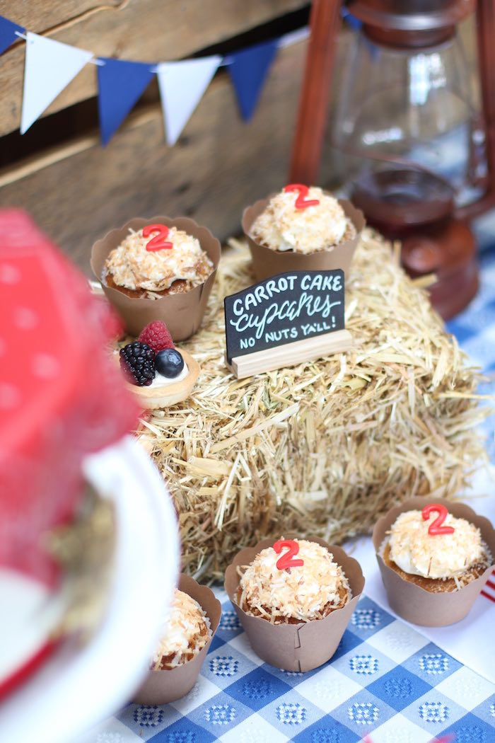 Hay bale-inspired cupcakes from a Cowboy Western Birthday Party via Kara's Party Ideas | KarasPartyIdeas.com (17)