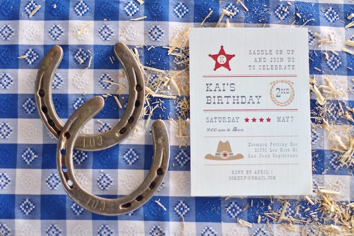 Adorable Western themed Invitation from a Cowboy Western Birthday Party via Kara's Party Ideas   KarasPartyIdeas.com (16)