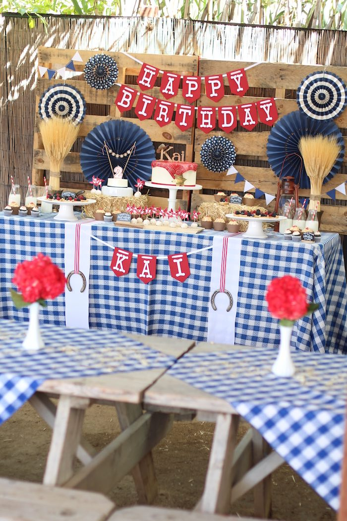 Little Cowboy Baby Shower Decorations
