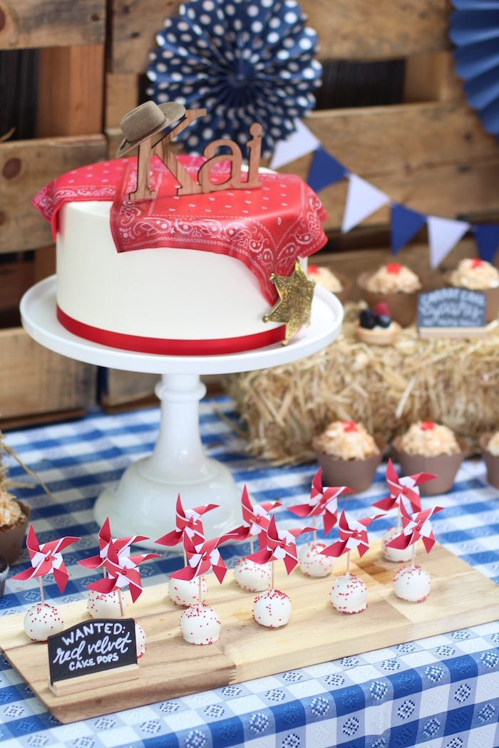 Cake + sweets from a Cowboy Western Birthday Party via Kara's Party Ideas | KarasPartyIdeas.com (14)