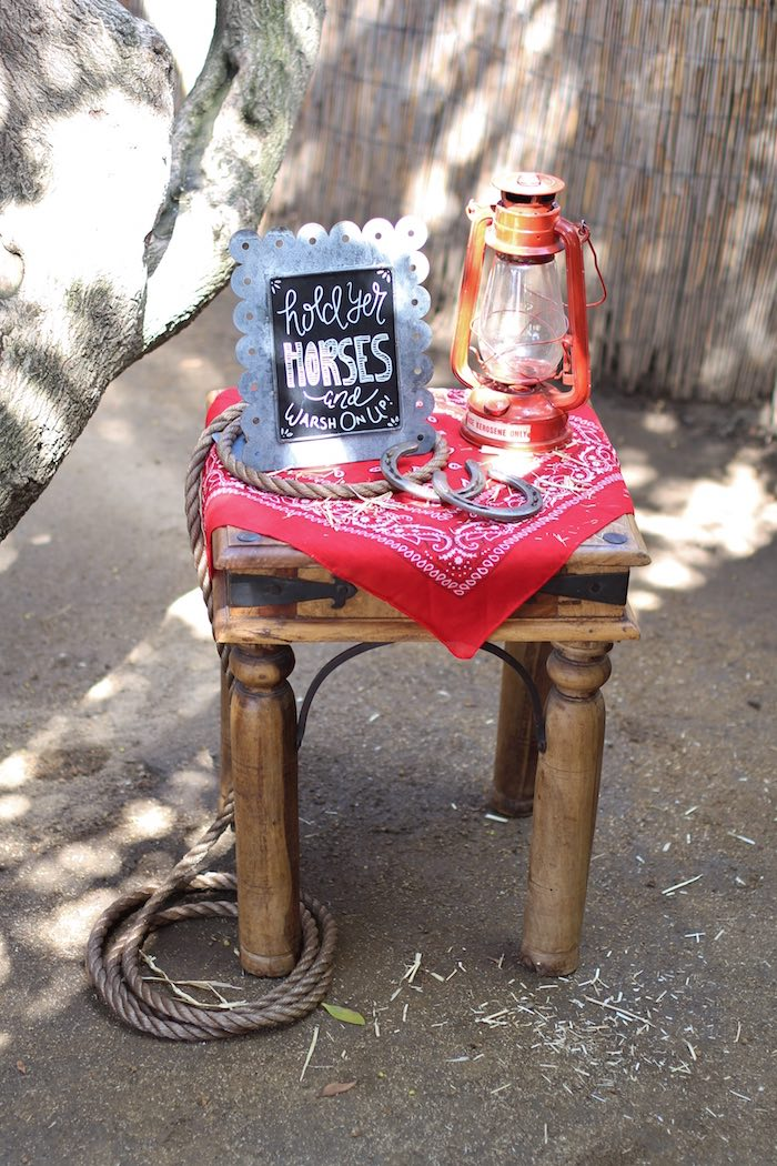 Table from a Cowboy Western Birthday Party via Kara's Party Ideas | KarasPartyIdeas.com (10)