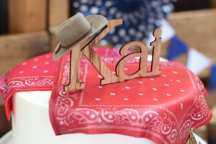 Cake topper from a Cowboy Western Birthday Party via Kara's Party Ideas | KarasPartyIdeas.com (4)