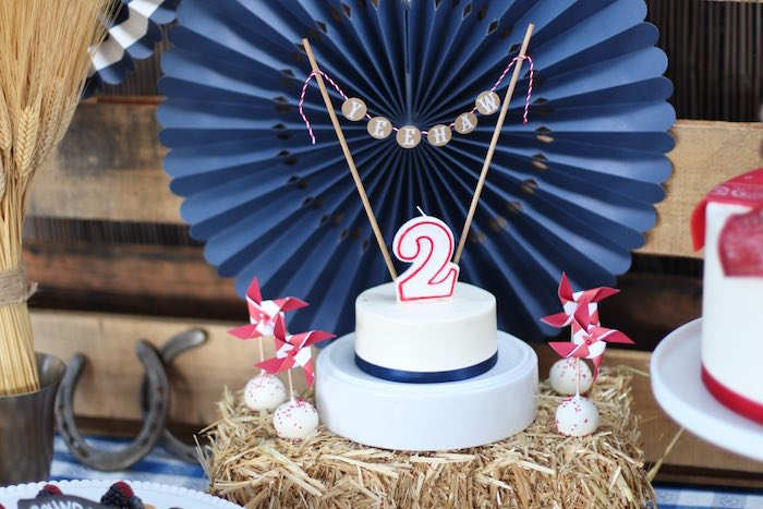 Cake Display From A Cowboy Western Birthday Party Via Karas Ideas