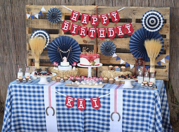Dessert table from a Cowboy Western Birthday Party via Kara's Party Ideas | KarasPartyIdeas.com (31)