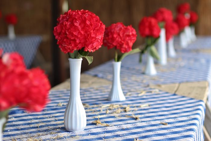 Guest tablescape from a Cowboy Western Birthday Party via Kara's Party Ideas | KarasPartyIdeas.com (29)