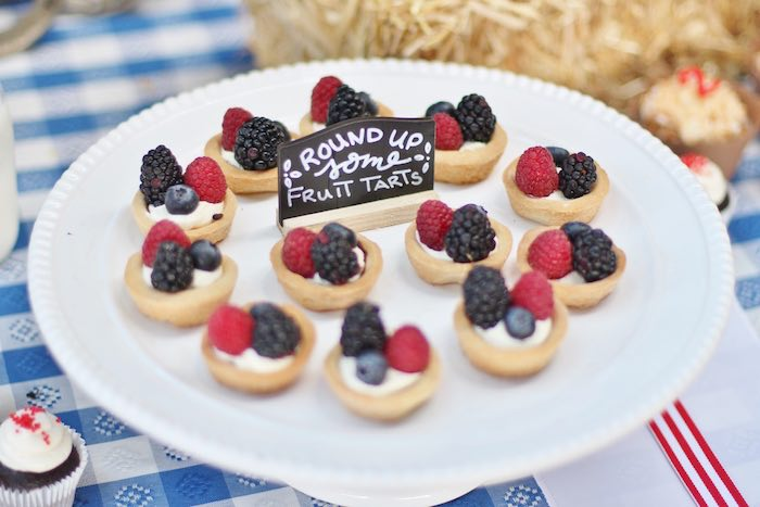 Fruit tarts to round up at a Cowboy Western Birthday Party via Kara's Party Ideas | KarasPartyIdeas.com (27)